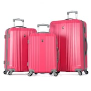"Olympia ABS Corsair 3 Piece Hardcase Set, 21"", 25"" & 29"", Pink"