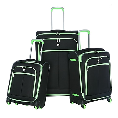 Olympia Polyester O-Tron 3-piece Spinner Luggage Set, Lime