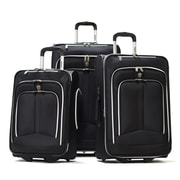 Olympia Polyester Hamburg Luggage Set Three Piece, Black