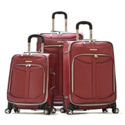 Olympia Polyester Tuscany 3-Piece Luggage Set Red