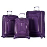 Olympia Polyester Hardside Spinner Luggage Set, Violet