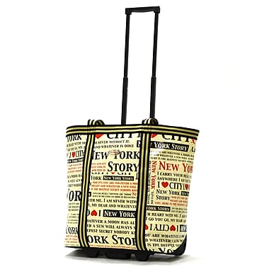 Olympia PE Tarpaulin Rolling Shopper Tote 19in., New York
