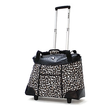 Olympia Deluxe Fashion Rolling Tote, 18.5in. Cheetah