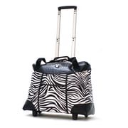 "Olympia Deluxe Fashion Rolling Tote, 18.5"" Zebra"