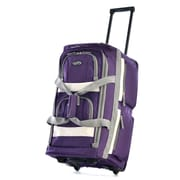 Olympia 8 pocket Carry On Rolling Upright Duffel Bag 22, Dark Lavendar