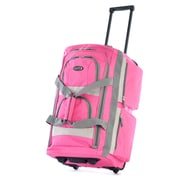 Olympia 8 pocket Carry On Rolling Upright Duffel Bag 22, Hot Pink