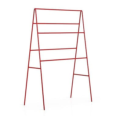 WS Bath Collections Ranpin Freestanding Towel Stand; Red