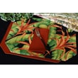 Pacific Table Linens Outdoor Table Linen Reversible Placemat (Set of 2); Botanica Midnight