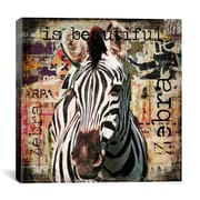 iCanvas 'Zebra Torn Posters' by Luz Graphics Graphic Art on Canvas; 18'' H x 18'' W x 0.75'' D