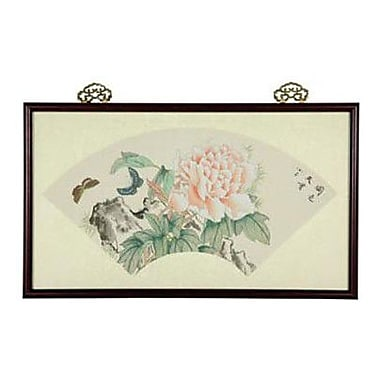 Oriental Furniture Oriental Dancing Butterflies Watercolor Framed Original Painting