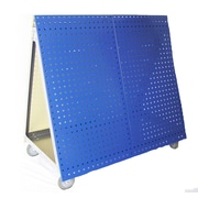 Triton Products Aluminum Frame Tool Cart w/ Tray and LocBoard; Blue