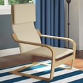 dCOR design Aquios Bentwood Contemporary Arm Chair; Warm White