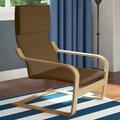 dCOR design Aquios Bentwood Contemporary Arm Chair; Warm Brown