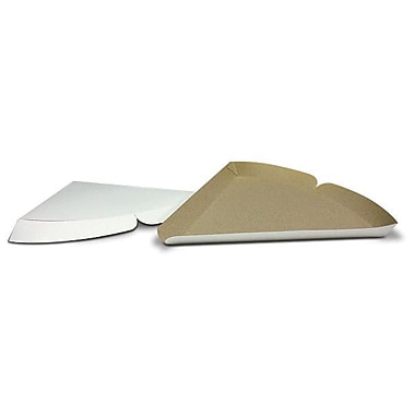 Seydaco Packaging Plain Paperboard Pizza Slice Tray