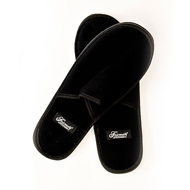 Hunter Amenities Fairmont Synthetic Mens Slippers, Black