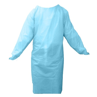 Ronco Thumb Holes Smooth Finished Cast Polyethylene Gown, Blue
