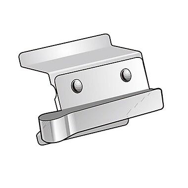 KostklipMD – Pince à affiche encastrée au ras de la tablette Clip-In, acier inoxydable, 1,5 po, 100/paquet (1 CLP-101188)