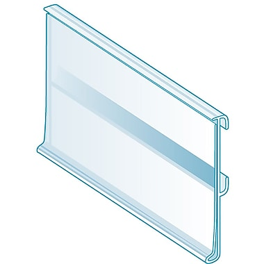 Kostklip® ClearVision® Plate, Stationary Label Holders, Clear, 100/Pack