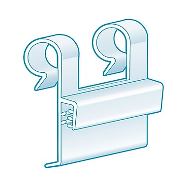 Kostklip® PowerGrip® Wire Fence and Basket Double Loop Sign Clips and Grips, Clear, 250/Pack