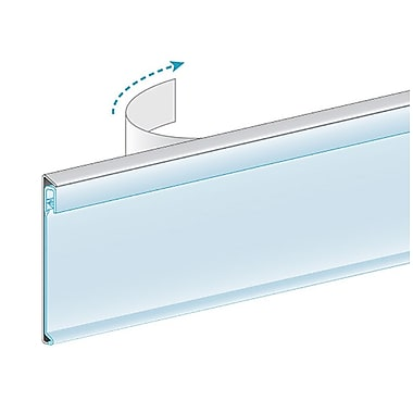 Kostklip® ClearGrip Flat-Mount Ticket Moldings, Clear Tape, 1-1/4