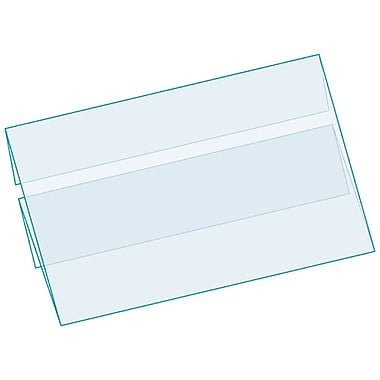 Kostklip® C-Channel Clip-In Center Position ShelfTalkers, Clear, 25/Pack
