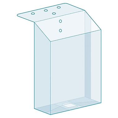 Kostklip® Top Mount Brochure Holder, Clear, 25/Pack