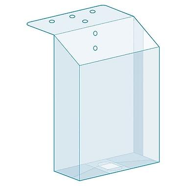 KostklipMD – Porte-dépliant à fixation supérieure, transparent, paquet de 25