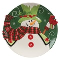 Fitz and Floyd Holly Hat Snowman Canape Serving Plate