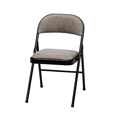 Meco Deluxe Fabric Padded Folding Chair; Black Lace/Courtyard