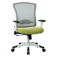 Office Star Pulsar Mesh Managers Chair with Height Adjustable Flip Arms; Olive