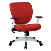 Office Star Pulsar Mesh Managers Chair with Height Adjustable Flip Arms; Rouge