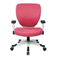 Office Star Pulsar Mesh Managers Chair with Height Adjustable Flip Arms; Pink