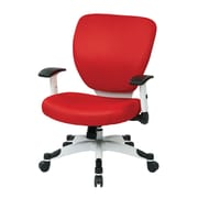 Office Star Pulsar Mesh Managers Chair with Height Adjustable Flip Arms; Red