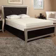 Luxury Solutions 4'' Memory Foam Mattress Topper; Queen