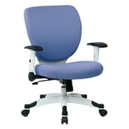 Office Star Pulsar Mesh Managers Chair with Height Adjustable Flip Arms; Violet