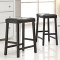 Kingstown Home Giavanna 24'' Bar Stool (Set of 2); Black / Dark Brown