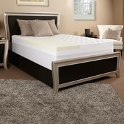 Luxury Solutions 3.5'' Memory Foam and Fiber Mattress Topper; Twin