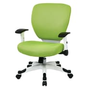 Office Star Pulsar Mesh Managers Chair with Height Adjustable Flip Arms; Green