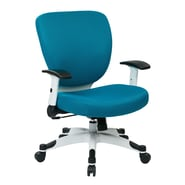 Office Star Pulsar Mesh Managers Chair with Height Adjustable Flip Arms; Blue