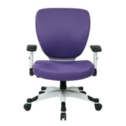 Office Star Pulsar Mesh Managers Chair with Height Adjustable Flip Arms; Purple