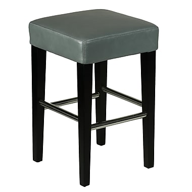 Cortesi Home 24'' Bar Stool with Cushion; Grey