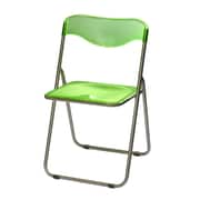 Meco Translucent Folding Chair Sterling (Set of 6); Sterling/Green
