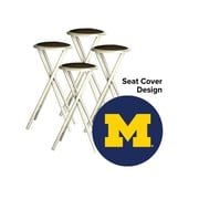 Best of Times Collegiate 30'' Bar Stool (Set of 4); University of Michigan