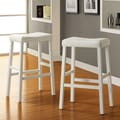 Kingstown Home Giavanna  29'' Bar Stool (Set of 2); White / Soft Cream White