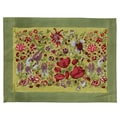 Couleur Nature Jardine Placemat (Set of 6); Red and Green