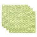 Couleur Nature Tile Placemat (Set of 4); Green