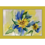 Betsy Drake Interiors Sunflowers Placemat (Set of 4)