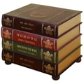 Woodland Imports 4 Drawer Faux Book Chest