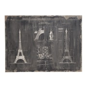 Woodland Imports Eiffel Tower Graphic Art on Wrapped Canvas