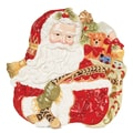 Fitz and Floyd Damask Holiday Santa Face Canape 12'' Plate
